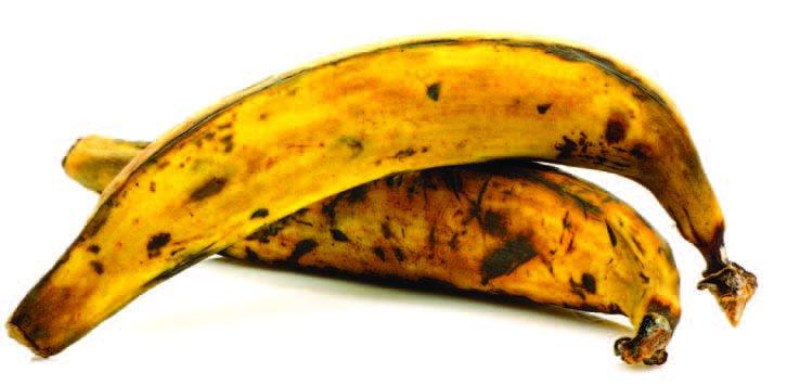 Procura emplear plátanos maduros para un mejor efecto en la receta