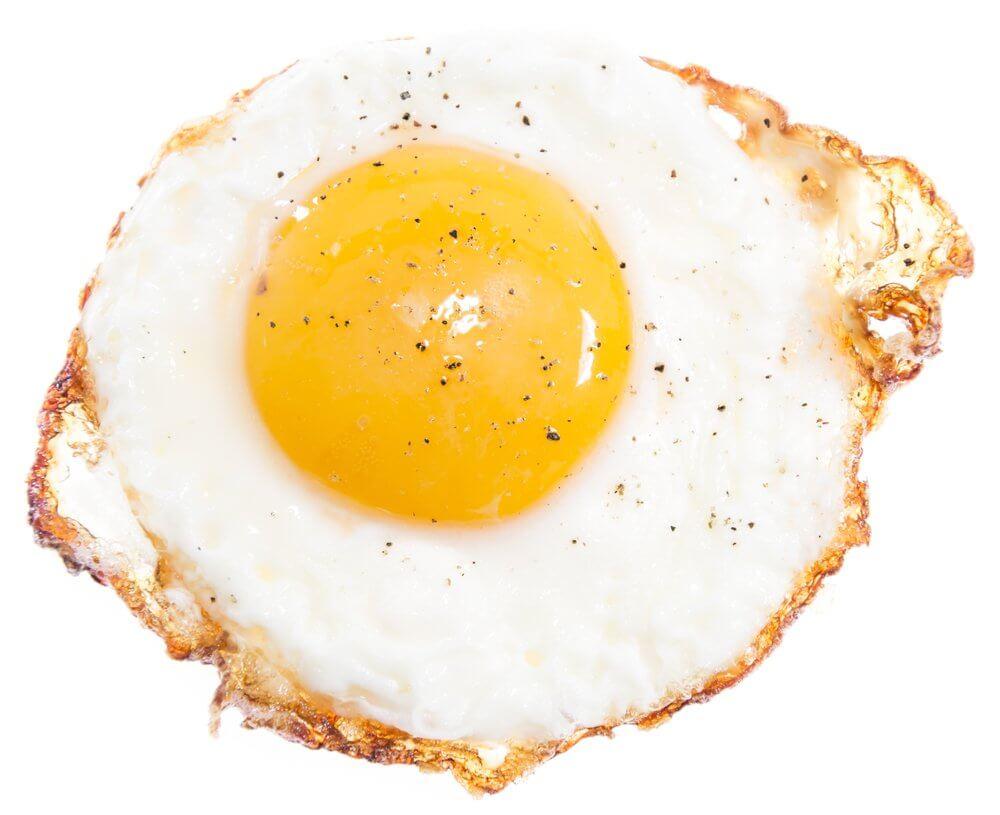 Frita de huevo calorias clara