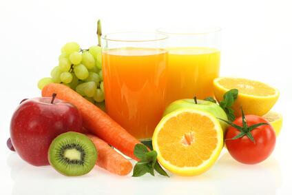 fruta fresca y zumos