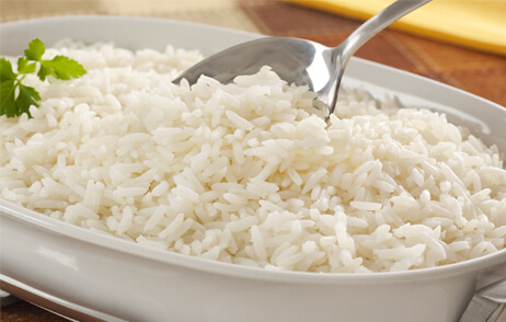cuantas calorias hay en un plato de arroz blanco