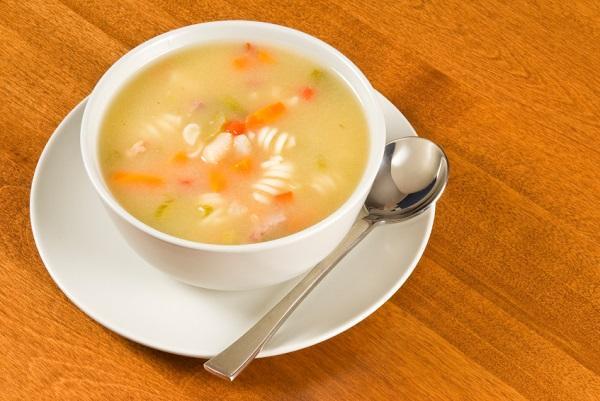 calorias sopa de pollo y arroz