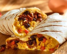 ¿Cuántas calorías tiene un burrito de huevo con jamón?