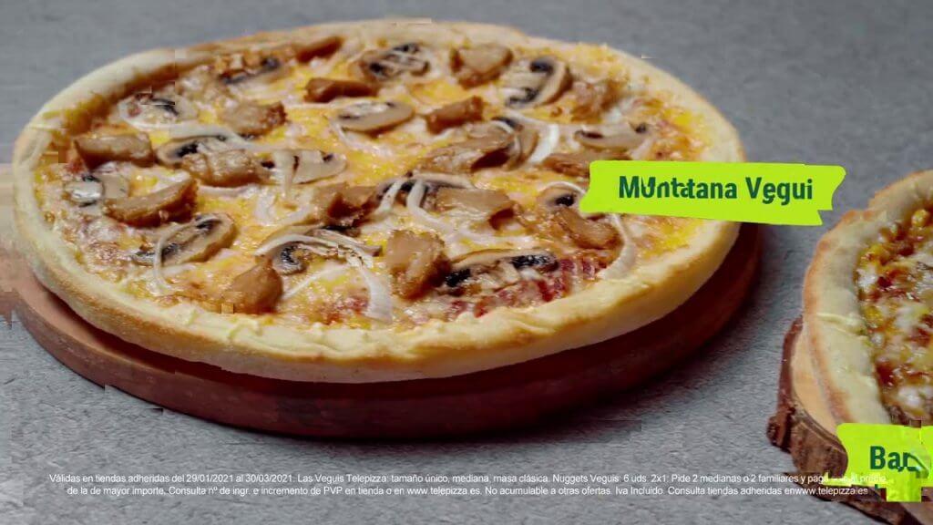 ¿Cuántas calorías tiene una pizza mediana del Telepizza?